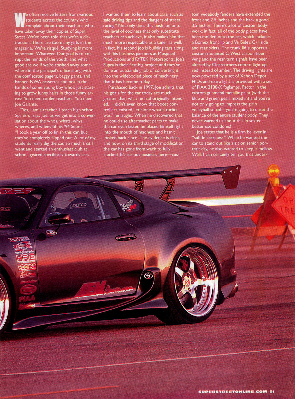 Clearcorners com multimedia 02 2003 super street magazine teacher s pet toyota supra turbo