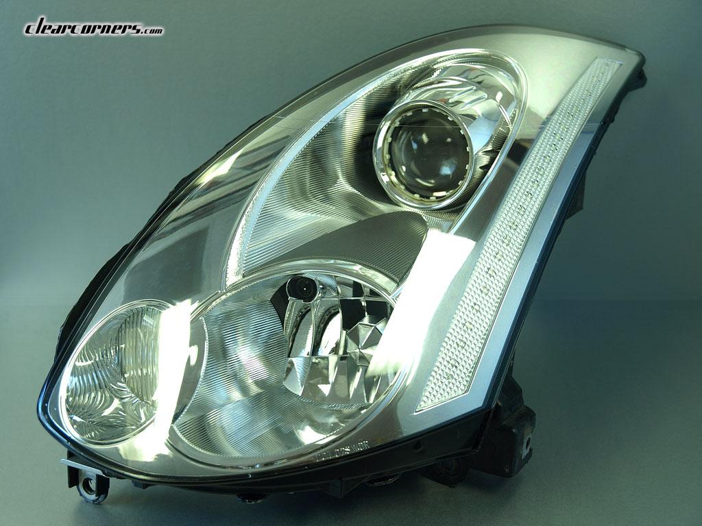 06 07 Infiniti Cv35 G35 Coupe Skyline Super Led Headlights Jeep Wr Angler Headlight Wiring Factory