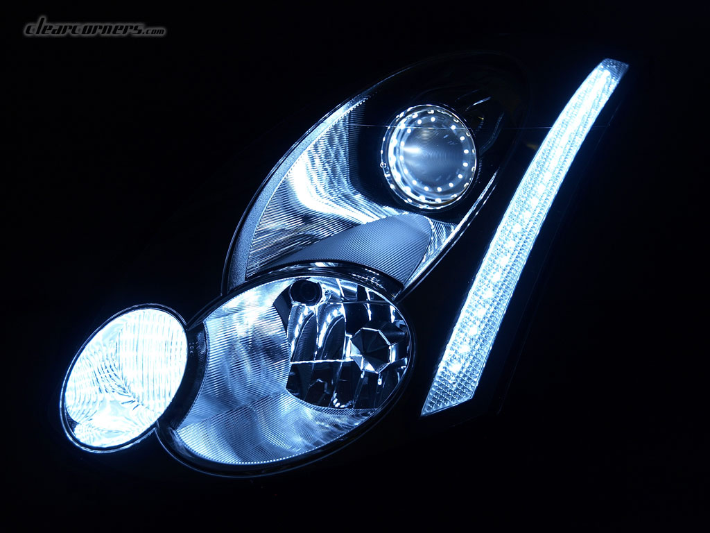 06 07 Infiniti Cv35 G35 Coupe Skyline Super Led Headlights