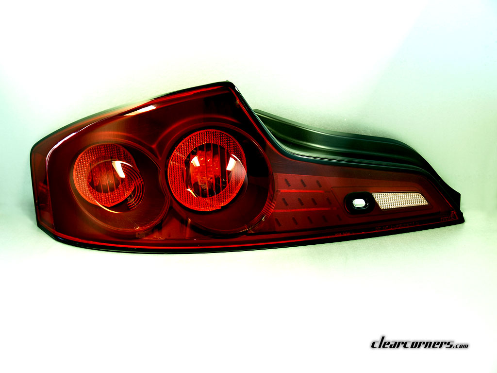 06 07 Infiniti Cv35 G35 Coupe Skyline Twin Ring Dual Led Tail Parking Lights